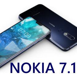 NOKIA 7.1 Gloss Midnight Blue SIMフリー